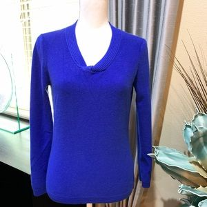 Jones New York Sweaters - Jones New York collection cashmere blue sweater